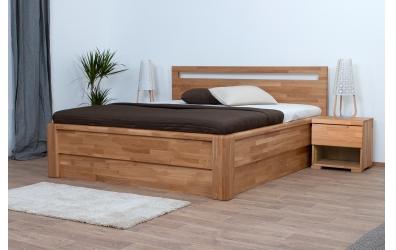 Noční stolek SOFIA & FLORENCIA 1  zásuvkový pravý dub cink