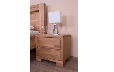 Noční stolek IMPERIA 2 zásuvky dub cink