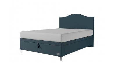 Čalouněná postel boxspring výklop Maxi Navy, 140x200, MATERASSO
