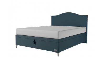 Čalouněná postel boxspring výklop Maxi NAVY, 160x200, MATERASSO
