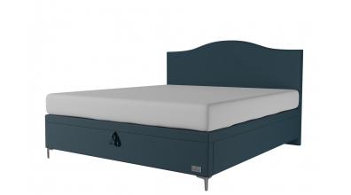 Čalouněná postel boxspring výklop Maxi NAVY, 180x200, MATERASSO