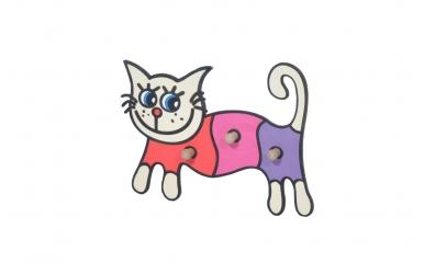 Dětský věšák kočka