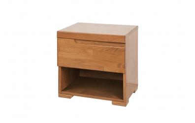 Noční stolek SOFIA & FLORENCIA 1  zásuvkový levý buk cink