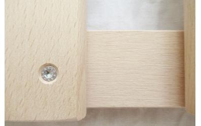 Postelový rošt laťkový v rámu 90x200 cm, výška 4,5 cm, buk