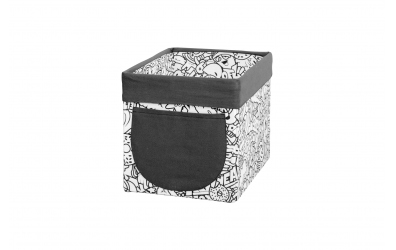 Textilní box do regálu Comics/černobílý