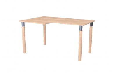 Psací stůl ERGO maxi levý buk cink