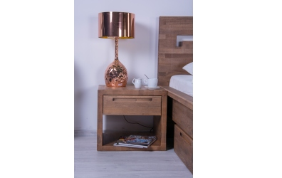 Noční stolek MODENA a MESSINA buk cink