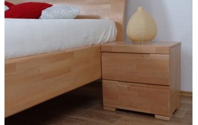 Noční stolek SOFIA & FLORENCIA 2  zásuvkový buk cink