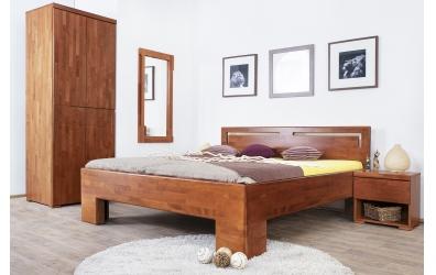 Noční stolek SOFIA & FLORENCIA 1  zásuvkový pravý buk cink