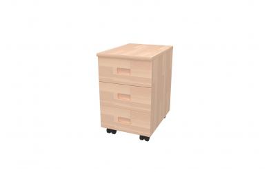 Kontejner 3 zásuvky buk cink