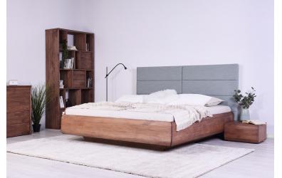 Manželská postel LEVITY čelo čalouněné - BUK