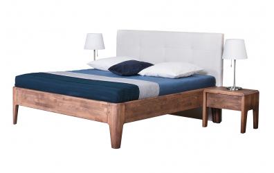 Manželská postel FANTAZIE čelo čalouněné 180 cm buk cink