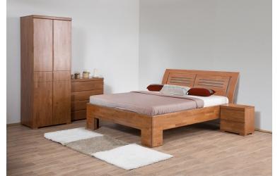 Manželská postel SOFIA čelo oblé 2 výplně 180 cm buk cink