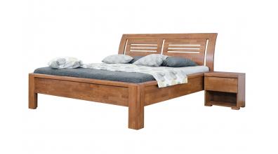 Manželská postel FLORENCIA čelo oblé 2 výplně 180 buk cink