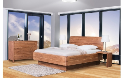 Manželská postel FANTAZIE Grande nastavitelné čelo oblé 180 cm dub cink