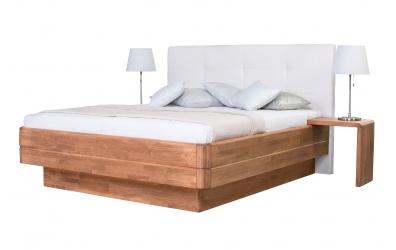 Manželská postel FANTAZIE Grande čelo čalouněné 180 cm dub cink