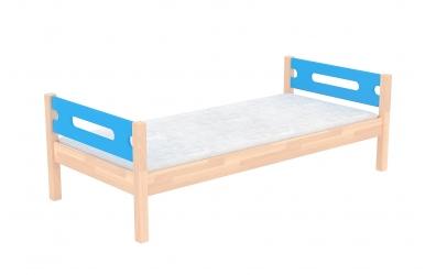 Jednolůžko bez zábrany BUBLINY, buk cink, dětská postel z masivu