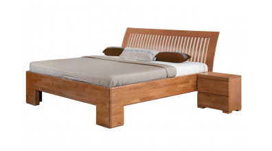 Manželská postel SOFIA čelo oblé laťkové 180 cm buk cink