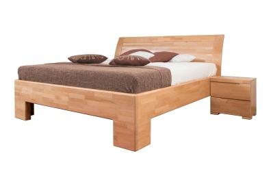 Manželská postel SOFIA čelo oblé plné 180 cm buk cink