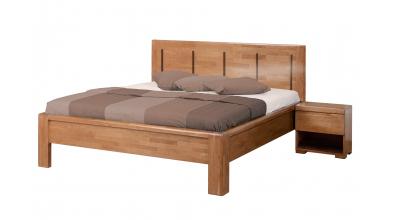 Manželská postel FLORENCIA čelo rovné 4 výplně 180 cm buk cink