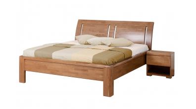 Manželská postel FLORENCIA čelo oblé 3 výplně 180 cm buk cink