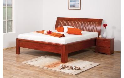 Manželská postel FLORENCIA čelo oblé laťkové 180 cm buk cink