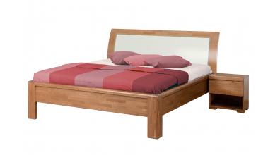 Manželská postel FLORENCIA čelo oblé čalouněné 180 cm buk cink
