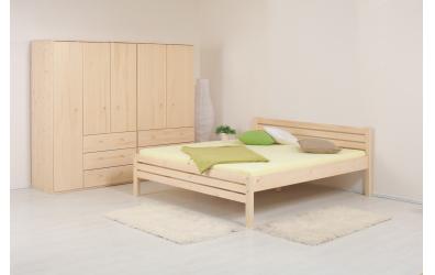 Manželská postel KARLA Senior 180 cm smrk