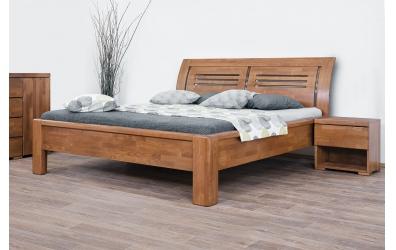 Manželská postel FLORENCIA čelo oblé 2 výplně 160 cm buk cink