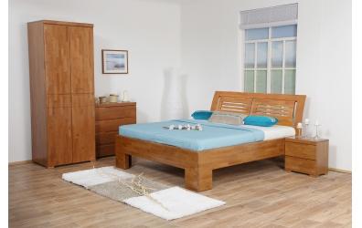 Manželská postel SOFIA čelo oblé 2 výplně 160 cm buk cink