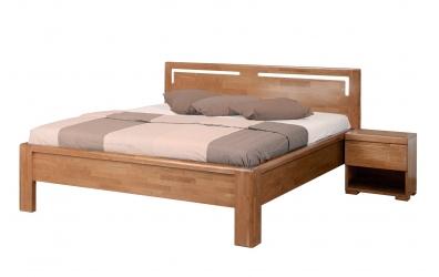 Manželská postel FLORENCIA čelo rovné s výřezy L 160 cm buk cink