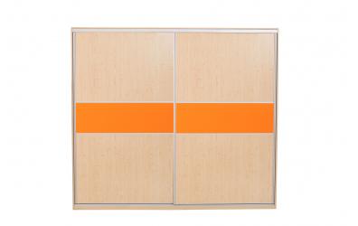 Skříň s posuvnými dveřmi  250 cm lamino, dveře smrk