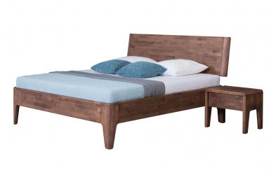 Manželská postel FANTAZIE nastavitelné čelo šikmé 180 cm dub cink