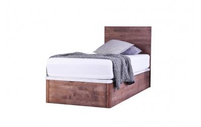Jednolůžko DREAMBOX s dřevěným čelem, čelní výklop 80x200 cm, buk cink