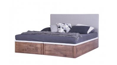 Manželská postel DREAMBOX s čalouněným čelem, čelní výklop 160x200 cm, buk cink
