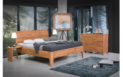 Manželská postel FANTAZIE nastavitelné čelo oblé 180 cm dub cink
