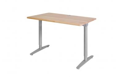 Psací stůl s kovovou podnoží 110 cm buk cink