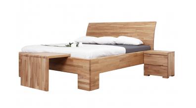 Manželská postel SOFIA čelo oblé plné 180 cm dub cink
