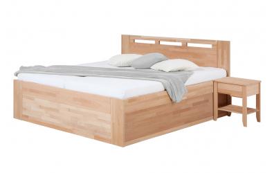 Manželská postel VALENCIA Senior s úložným prostorem 160 cm buk cink