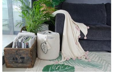 Deka LORENA pudrové bambulky, přírodní
